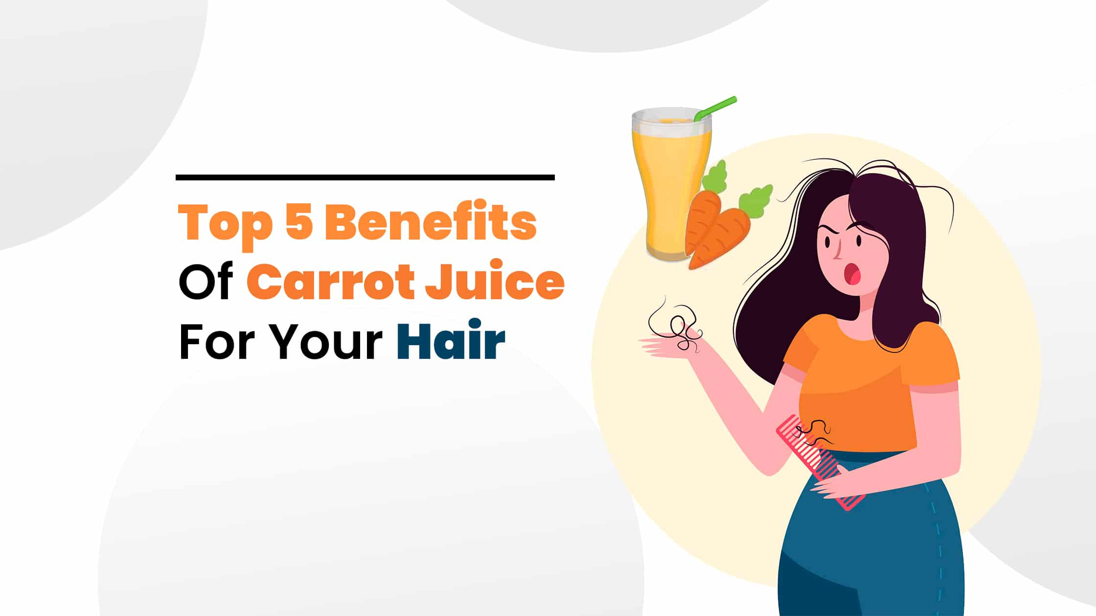 carrot juice benefits for hair