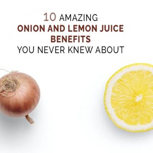 onion and lemon juice benefits